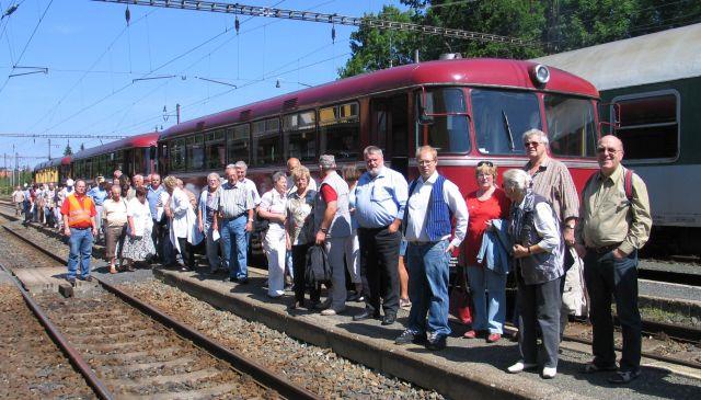 am Bahnsteig in Marienbad / CZ